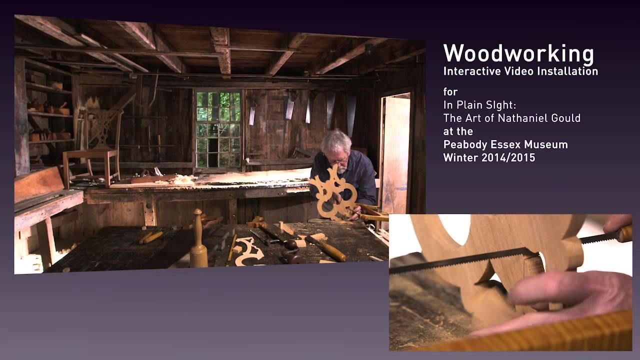 woodworking demonstration - splat carving