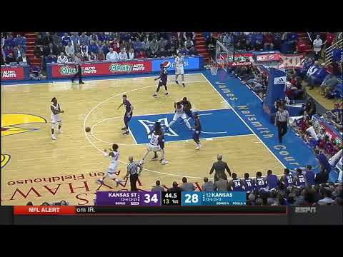 Kansas State at Kansas Men's Basketball Highlights