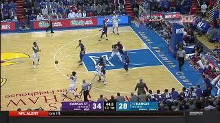 Kansas State at Kansas Men's Basketball Highlights
