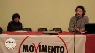 Torino, 18 aprile 2012. il m5s di torino ha organizzato insieme ad alcuni esperti e collaboratori una serata d'informazione sulle privatizzazioni delle azie...