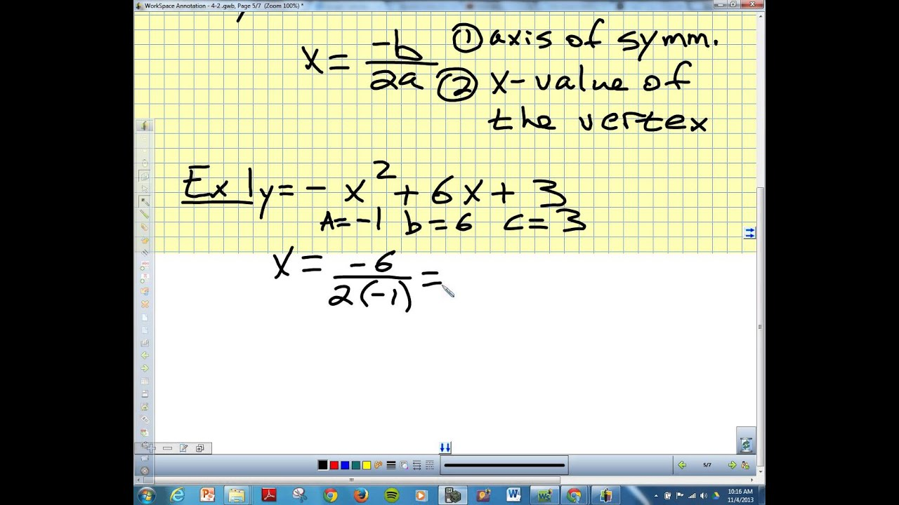 4 2 Standard Form Of Quadratic Equation