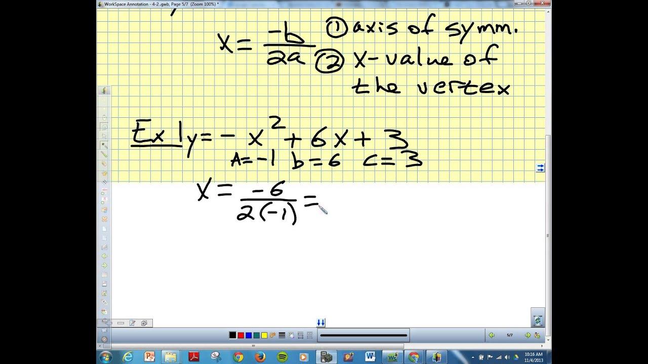 4 2 Standard Form Of Quadratic Equation