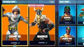 *NEW* SEASON 5 SKINS LEAKED in Fortnite! - NEW Magnus, Chomp Sr, Dynamo, Masked Fury Skins LEAKED!