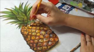 Pintura em Tecido ABACAXI