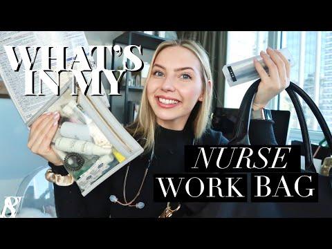 NURSE ESSENTIALS   WHAT'S IN MY NURSE WORK BAG + TIPS