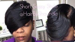 Simple Short Hairstyle | @hairbyshaunda