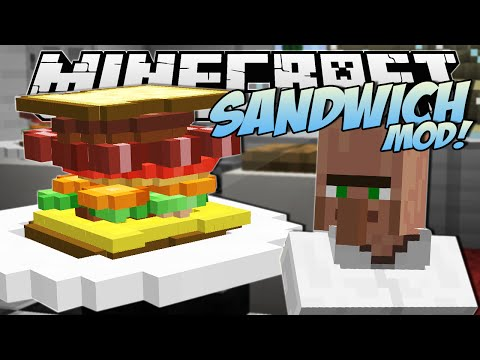 Thumbnail: Minecraft | SANDWICH MOD! (The Tallest Sandwich in the World!) | Mod Showcase