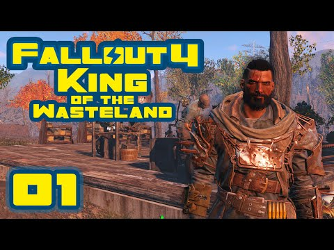 Let's Play Fallout 4: King of the Wasteland Challenge [Survival Mode] - Part 1 - Scrap Everything!