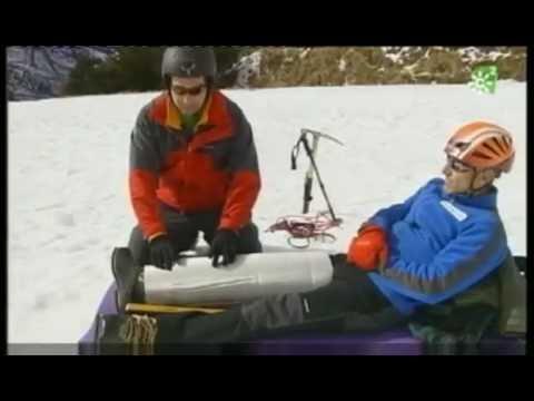 Seguridad en montaña Episodio 6, inmovilización de fractura, con elementos de fortuna.