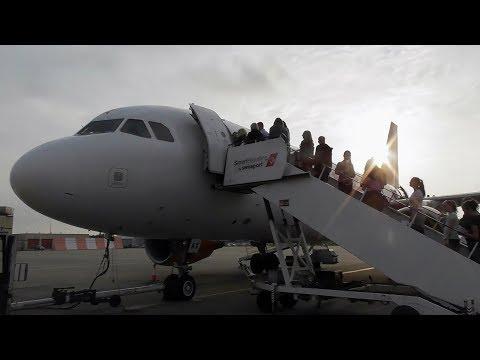 easyJet Airbus A319-111 Liverpool to Barcelona–El Prat  | Full Flight