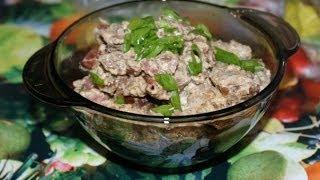 Рецепт для мультиварки: свинина со сливками и шампиньонами