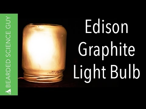 Edison Graphite Light Bulb
