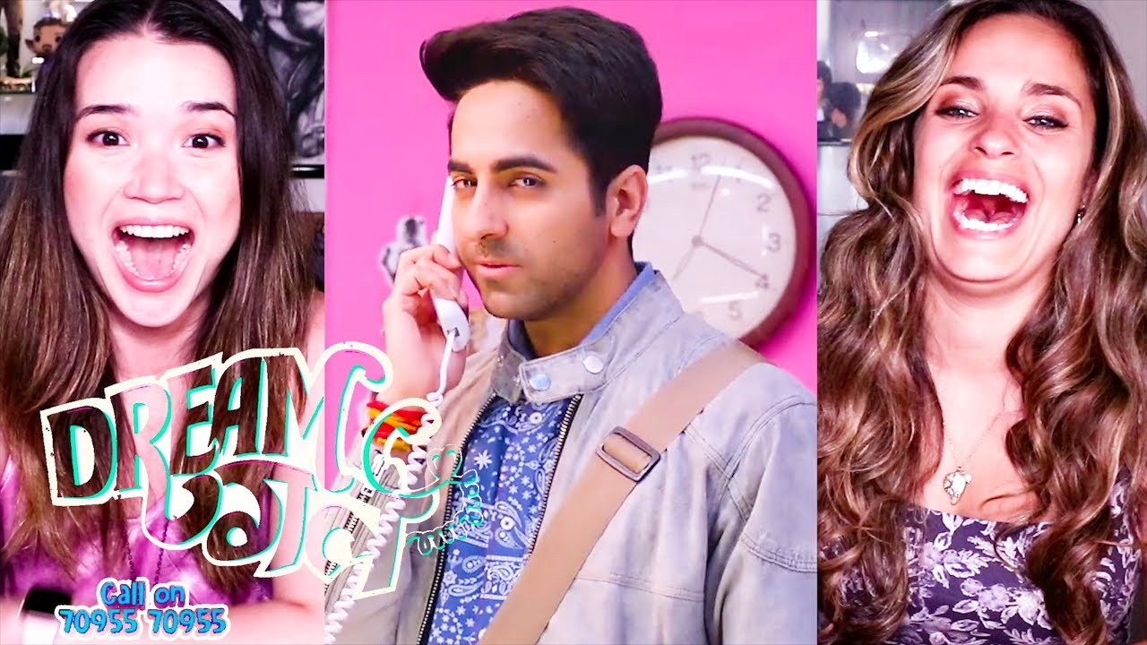 DREAM GIRL | Ayushmann Khurrana | Nushrat Bharucha | Trailer Reaction w/ Achara & Kristen