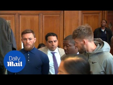 Conor McGregor appears in NY court facing assault charges - Daily Mail