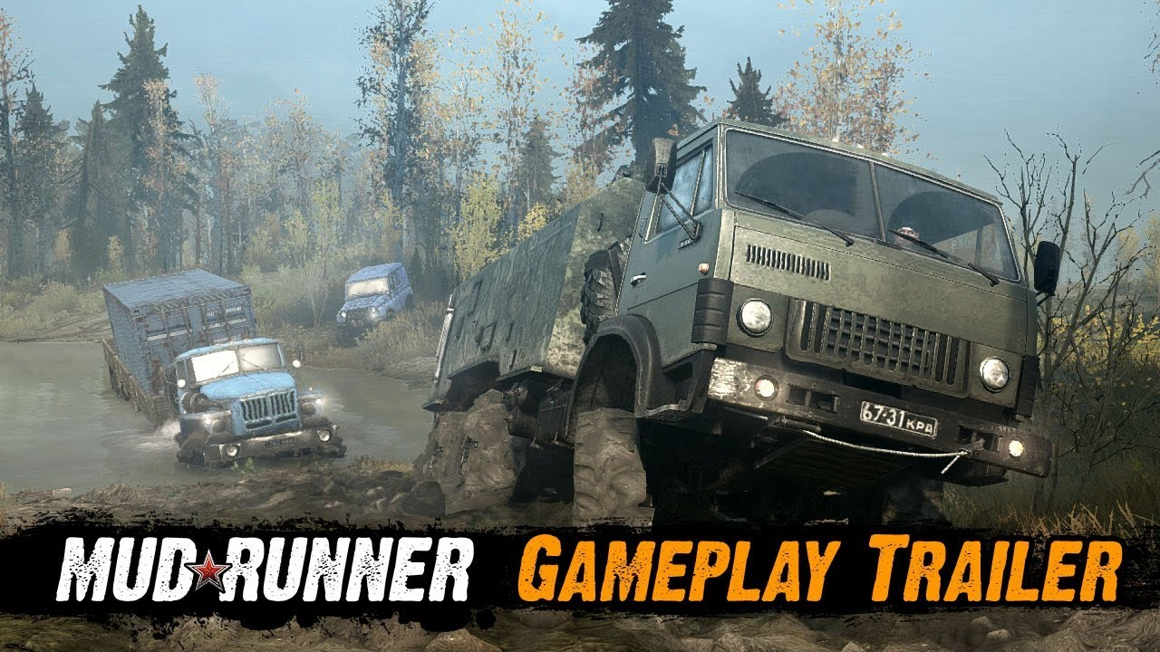spintires mudrunner gameplay trailer youtube. Black Bedroom Furniture Sets. Home Design Ideas