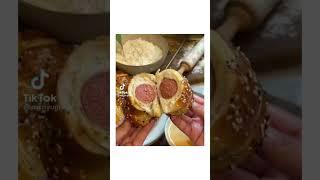 Everything bagel hot dog  tiktoks  tiktok food recipes  tiktok food  tiktok recipes #shorts