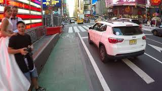 NYC Cycling - Clips of Jaywalkers, Bike Lane Walkers, & Bike Salmon going the wrong way