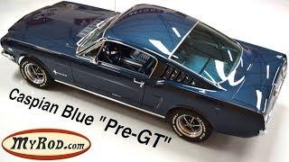 """1965 Mustang Fastback """"Pre-GT"""" Caspian Blue - MyRod.com"""