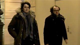 Alain Delon' son Alain Fabien Delon leaves Cesar Revelation party in Paris