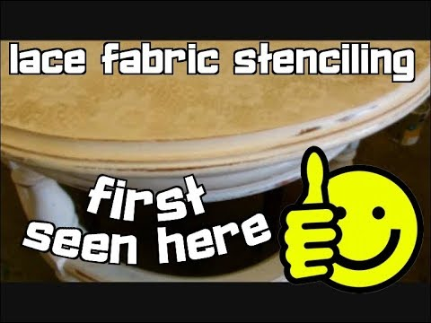 How to use old fancy lace curtains as stencils to create stu