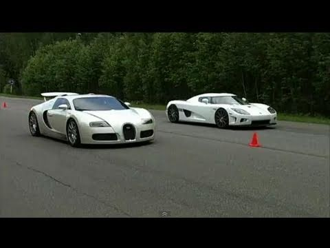 bugatti veyron vs koenigsegg ccxf 60 310 km h youtube. Black Bedroom Furniture Sets. Home Design Ideas