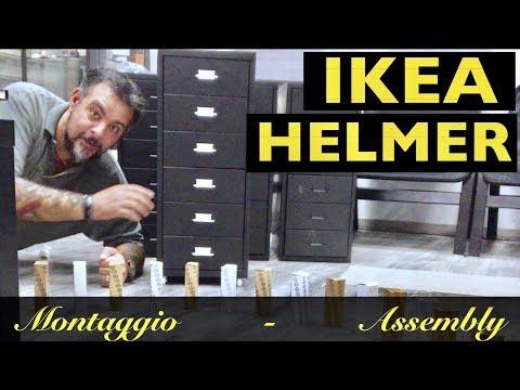 Helmer Cassettiera Con Rotelle Ikea.Istruzioni Ikea Helmer Montaggio Assembly Assemble Montage