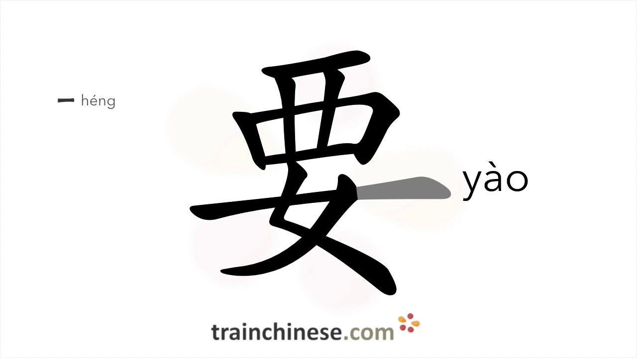 How to write 要 (yào) – would like to, will – stroke order ...