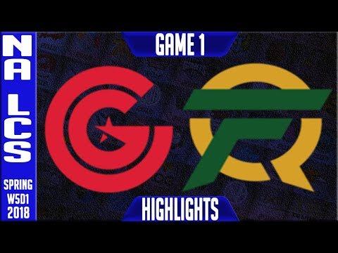 CG vs FLY Highlights | NA LCS Week 5 Spring 2018 W5D1 | Clutch Gaming vs FlyQuest Highlights