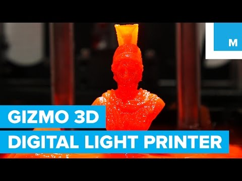 Digital Light Printing from Gizmo 3D is 3D Printing Like You've Never Seen   Mashable CES 2016