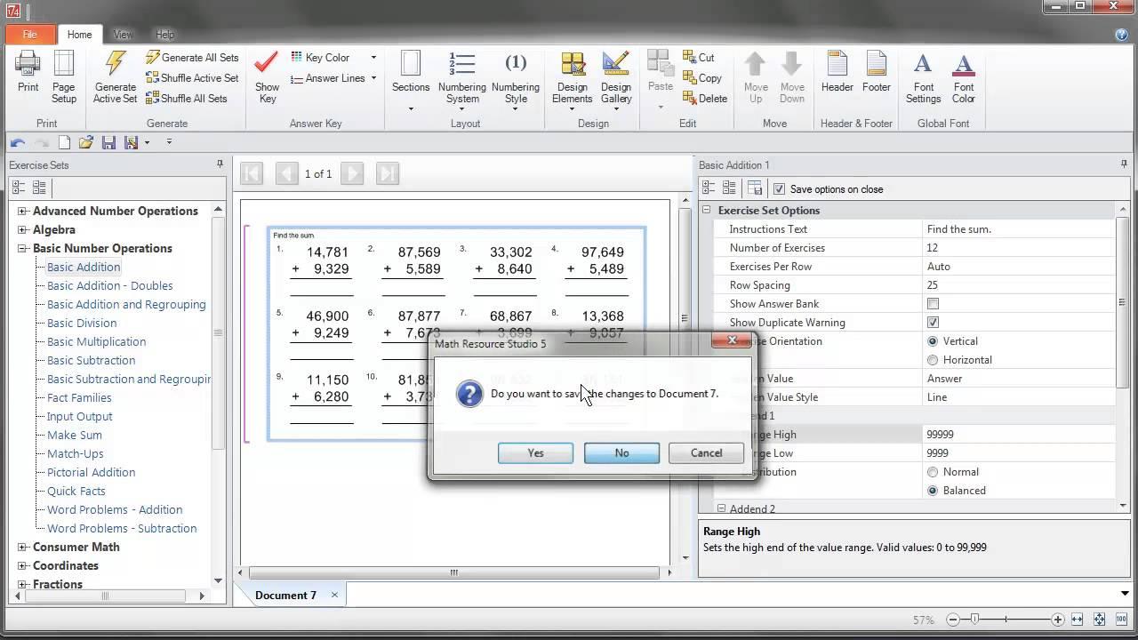math worksheet : math resource studio 5  digit grouping workaround  youtube : Schoolhousetech Math Worksheets