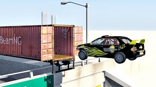 Open Cargo Container Jumps And Stunts BeamNG Drive