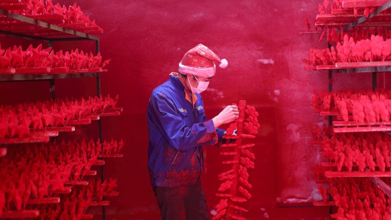 santas workshops are actually located in china and not so jolly youtube - Chinese Christmas Decorations