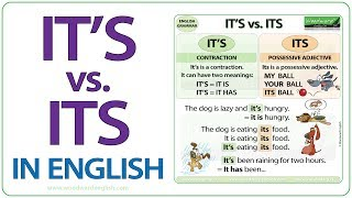 It's vs. Its - What is the difference? - English Grammar Lesson