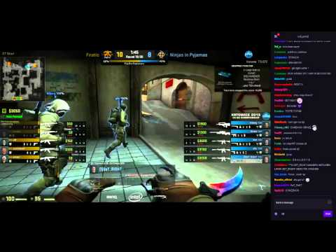 NIP vs Fnatic | VoIP/ts3 + Twitch chat | Dust 2 | KATOWICE 2015