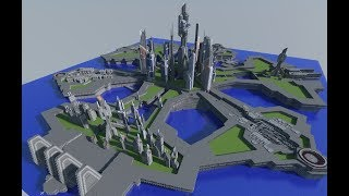 Building the City of Atlantis from Stargate in Minecraft