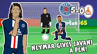 💙Neymar LOVES Cavani!💙 (PSG vs Galatasary 5-0 Penalty Parody Goals Highlights)