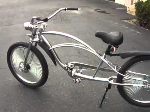 chrome horse stretch chopper bicycle youtube. Black Bedroom Furniture Sets. Home Design Ideas