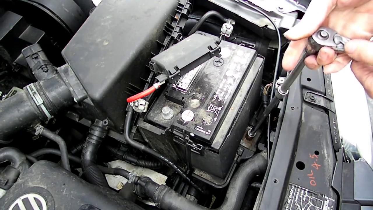 hight resolution of battery removal volkswagen jetta