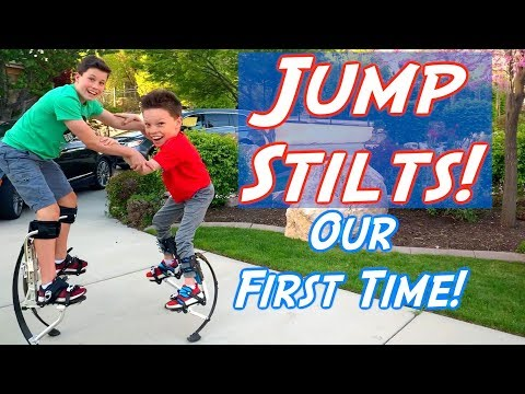 Learning JUMP STILTS! Ashton Myler