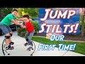 Learning JUMP STILTS! Ashton Myler