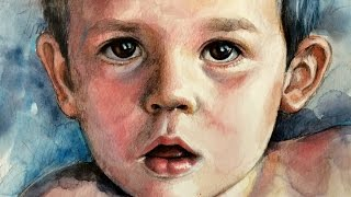 Watercolor and Colored Pencils Portrait SPEED PAINTING by Ch.Karron