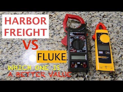 Harbor Freight VS FLUKE Clamp Meter
