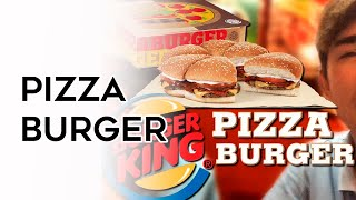 EXPERIMENTANDO O PIZZA BURGER DO #BURGERKING