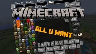 Minecraft Mod Spotlight: All U Want Inventory Editor! #1 (HD)