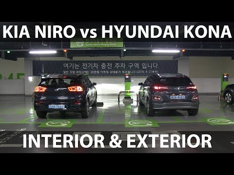 Kona vs Niro comparison of exterior & interior