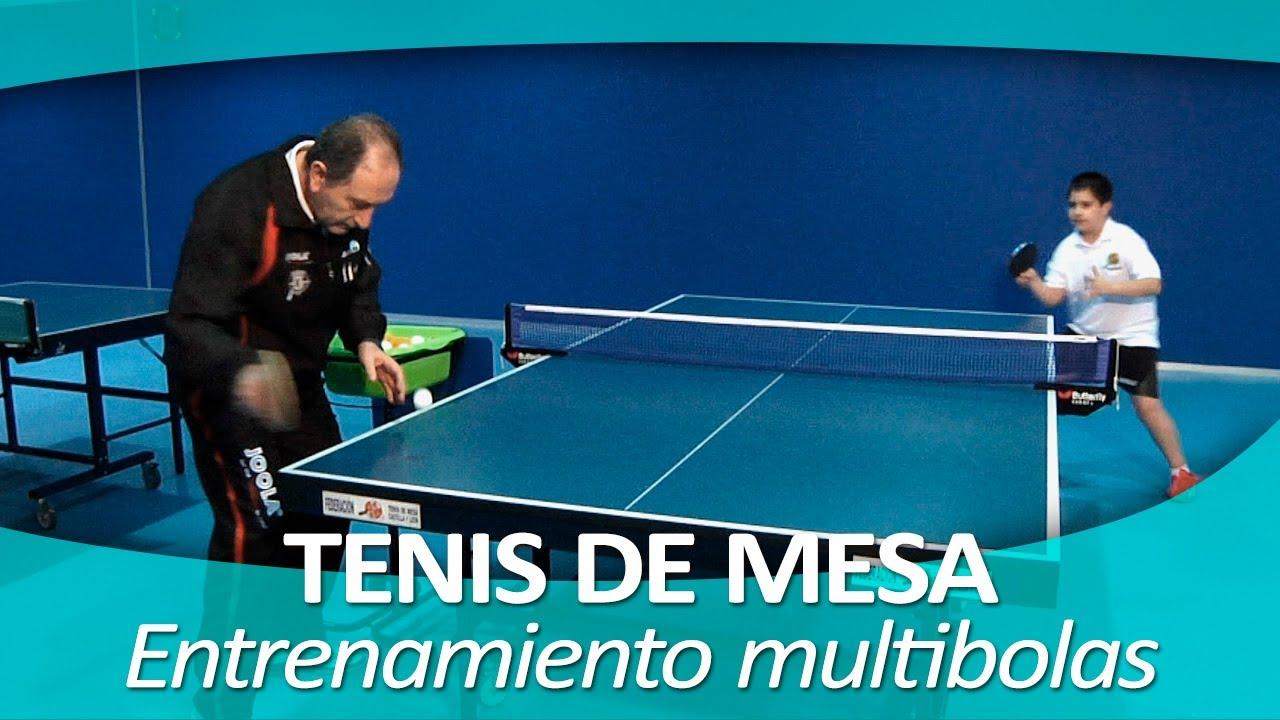 tenis de mesa 10 entrenamiento con multibolas youtube
