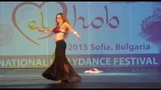 """Rosa Mondaray dancing in """"Orient el hob"""" festival 2015 Sofia Bulgaria"""