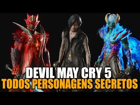 DEVIL MAY CRY 5 ( TODOS PERSONAGENS SECRETOS ) thumbnail