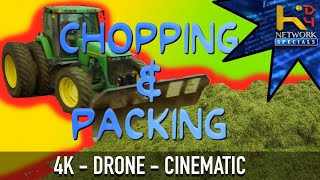 Chopping & Packing Haylage (John Deere) [CINEMATIC]