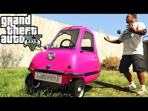 GTA 5 Funny Vehicles #2 - Peel P50, Doraemon Time Machine, LEGO Car and More [Mod Showcase]
